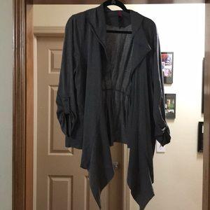 Plus size knit cardigan in gray size 3x.